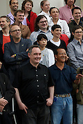 documenta12. Official photo op of documenta staff and artists at Fridericianum. Star Chef Ferran Adria (front l.)
