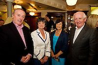 "19/7/2011.   Derrick Murphy, with Mary Kavanagh, Taylor's Hill, Anne Murphy Chestnut lane, and Des Kavanagh, Taylor's Hill in McSwiggans for the pre show reception of Propellors ""Comedy of Errors"" by Shakspeare in the Galway Arts Festival, sponsored by Ulster Bank. Photo:Andrew Downes"