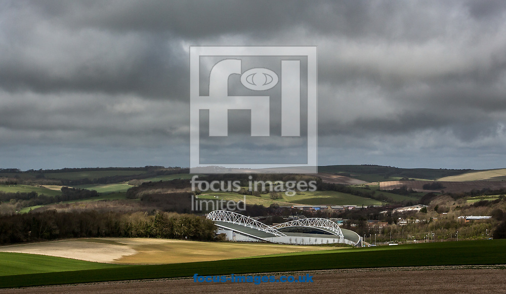 View of the American Express Community Stadium from the South Downs prior to the Sky Bet Championship match between Brighton and Hove Albion and Blackburn Rovers, Picture by Liam McAvoy/Focus Images Ltd 07413 543156<br /> 01/04/2017