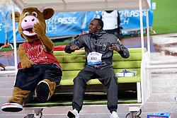 30.08.2012, Stadion Letzigrund, Zuerich, SUI, Leichtathletik, Weltklasse Zurich 2012, im Bild, Eroeffnungsfeier mit Usain Bolt (JAM) // during Athletics World Class Zurich 2012 at Letzigrund Stadium, Zurich, Switzerland on 2012/08/30. EXPA Pictures © 2012, PhotoCredit: EXPA/ Freshfocus/ Andy Mueller..***** ATTENTION - for AUT, SLO, CRO, SRB, BIH only *****