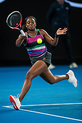 January 20, 2019 - Melbourne, Australia - SLOANE STEPHENS of USA in action during Day 7 of the 2019 Australian Open tennis tournament, at Melbourne Park. (Credit Image: © Chaz Niell/Icon SMI via ZUMA Press)