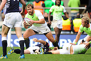 LONDON, ENGLAND - Saturday 10 May 2014, Frankie Horne of South Africa during the match between South Africa and Scotland at the Marriott London Sevens rugby tournament being held at Twickenham Rugby Stadium in London as part of the HSBC Sevens World Series.<br /> Photo by Roger Sedres/ImageSA