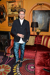 HENRY HOLLAND at an exclusive dinner for Iris Apfel held at Annabel's, Berkeley Square, London on 29th July 2015.