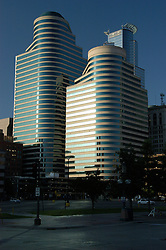 View of the Opus Towers from the street