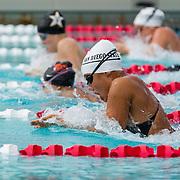 15 October 2015 - The San Diego State Aztecs Women's Swim & Dive Team took on Oregon State and Vanderbilt at the Aztec Aquaplex. 200 yard Medley Relay Heat 1 Lane 4
