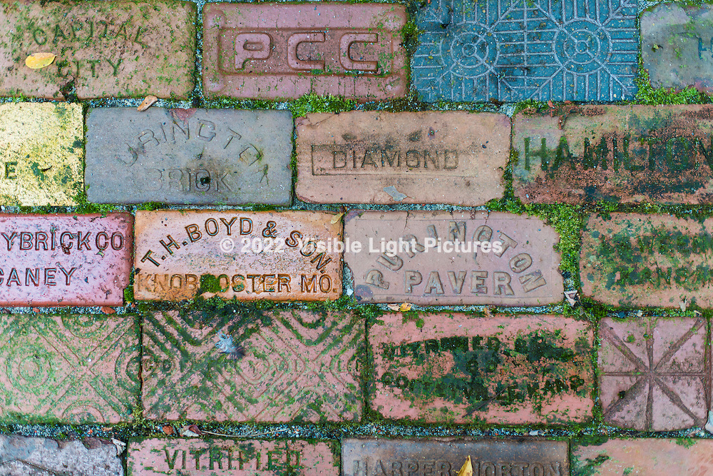 Brick manufacturers in a collection at the Connecticut Antique Machine Association in Kent, CT