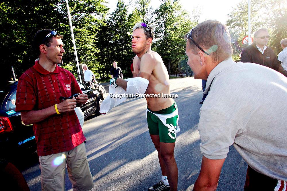 Larvik, 20050625. NM i sykling, fellesstart. Thor Hushovd nådde ikke opp under NM i sykling i Larvik. ..Foto: Daniel Sannum Lauten/ Dagbladet.... *** Local Caption *** Hushovd,Thor