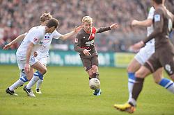 Football: Germany, 2. Bundesliga, 15.02.2014<br />Marc Rzatkowski (FC St. Pauli, #11) <br />?? pixathlon