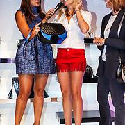 NLD/Amsterdam/20150827 - Presentatie TOVxChantal bag, Sarissa Ling, Nicolette van Dam en Leontien Borsato