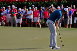 September 22, 2018 - Atlanta, Georgia, United States - Justin Rose putts the 18th green during the third round of the 2018 TOUR Championship. (Credit Image: © Debby Wong/ZUMA Wire)