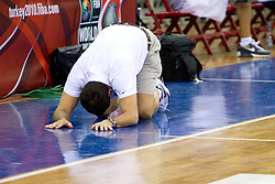 Head coach Mike Krzyzewski of the USA Senior Men's National Team stretches during practice  prior to the 2010 World Championships of Basketball on August 27, 2010 at Abdi Ipekci Arena in Istanbul, Turkey. (Photo by Vid Ponikvar / Sportida)