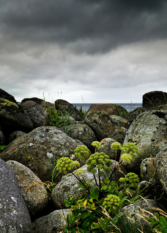 Stormy weather at Obrestad, Rogaland, Norway.