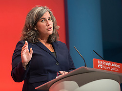 © Licensed to London News Pictures . 30/09/2015 . Brighton , UK . HEIDI ALEXANDER speaks to the conference . The 2015 Labour Party Conference . Photo credit : Joel Goodman/LNP