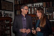JEMIMA KHAN; JOHN BATSEK, Freud Museum dinner, Maresfield Gardens. 16 June 2011. <br /> <br />  , -DO NOT ARCHIVE-© Copyright Photograph by Dafydd Jones. 248 Clapham Rd. London SW9 0PZ. Tel 0207 820 0771. www.dafjones.com.