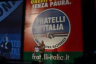 Roma 26  Gennaio 2013.Il partito di centro destra Fratelli d Italia apre la campagna elettorale.Giorgia Meloni.Rome January 26, 2013.The new center-right party: Brothers of Italy opens the campaigning