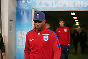 England Forward Daniel Sturridge during a general stadium walk around before the Slovenia vs England FIFA World Cup Group F Qualifier match at Stadion Stozce, Ljubljana, Slovenia on 10 October 2016. Photo by Phil Duncan.