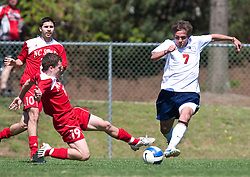 Virginia Cavaliers midfielder/forward Neil Barlow (7).  The North Carolina State Wolfpack defeated the Virginia Cavaliers 1-0 in NCAA Men's Soccer during a spring scrimmage at the Klockner Stadium practice field on the Grounds of the University of Virginia in Charlottesville, VA on April 4, 2009.
