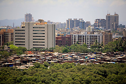 INDIA MUMBAI 29MAY10 - General view of the Dharawi slum, Asia's largest urban dwelling for the poor, seen from Bandra, Mumbai, India...jre/Photo by Jiri Rezac..© Jiri Rezac 2010
