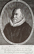 Pieter Bor or Pieter Christiaensz Bor (1559-1635) was a writer and historian of the Dutch Golden Age.  Through his work he had access to city archives in the places he stayed and he transcribed these sources for his history writing.   Although he is not registered as a member of a Chamber of Rhetoric, he wrote a few plays that were published in 1617.  This stapelspel is based on the same story as Shakespeare's Pericles, Prince of Tyre.  This work, which occupied him for 25 years, was never finished in rhyme, necessary for performances in those days.