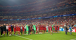 MADRID, SPAIN - SATURDAY, JUNE 1, 2019: Liverpool's players celebrate with the trophy after the UEFA Champions League Final match between Tottenham Hotspur FC and Liverpool FC at the Estadio Metropolitano. Liverpool won 2-0 to win their sixth European Cup. (Pic by David Rawcliffe/Propaganda)