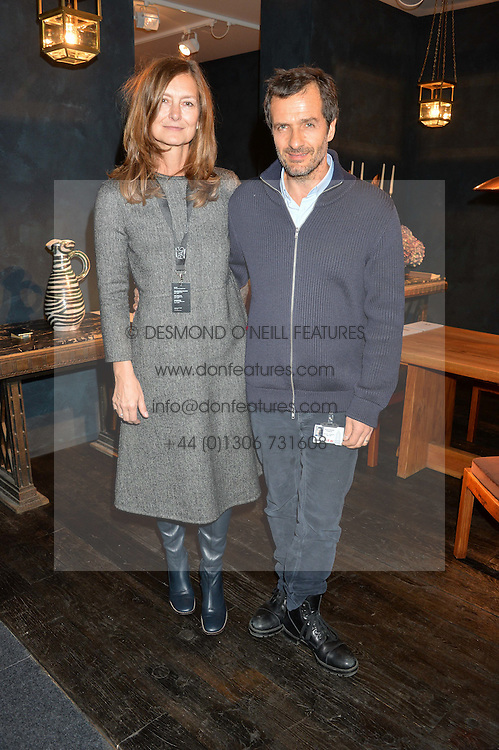 DAVID HEYMAN and ROSE UNIACKE at the PAD London 2015 VIP evening held in the PAD Pavilion, Berkeley Square, London on 12th October 2015.
