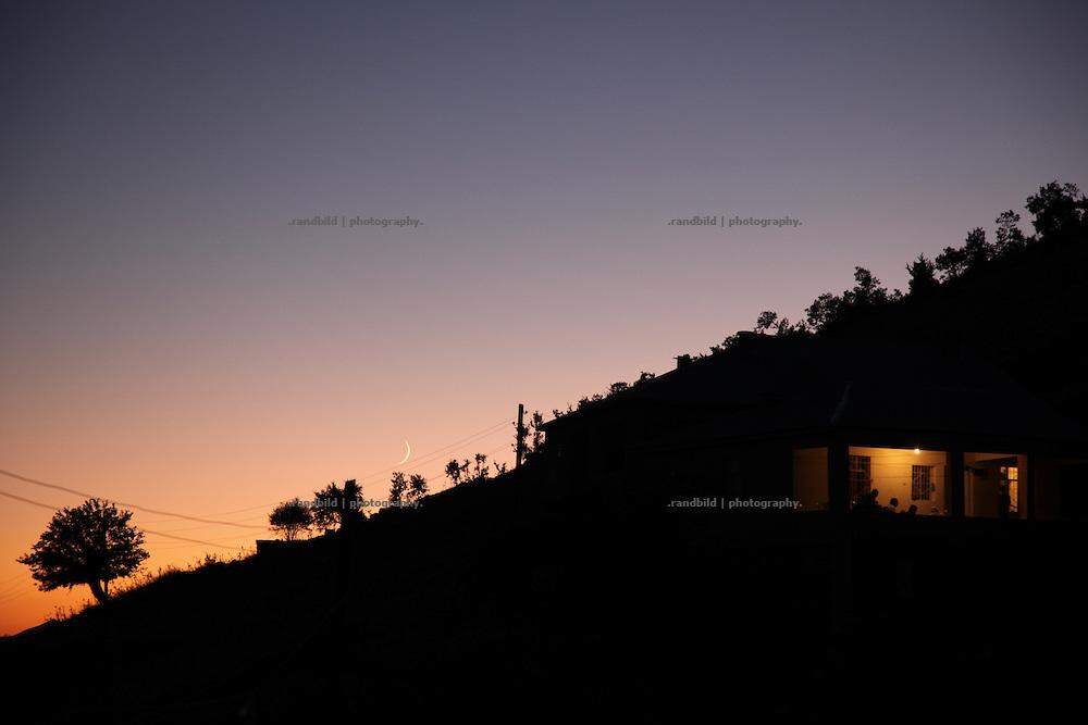 a kurdish village near Diyarbakir in the sunset during Ramadan (ramazan)