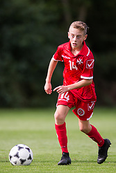 WREXHAM, WALES - Thursday, August 15, 2019: Malta's Kayne Haber during the UEFA Under-15's Development Tournament match between Cyprus and Malta at Colliers Park. (Pic by Paul Greenwood/Propaganda)
