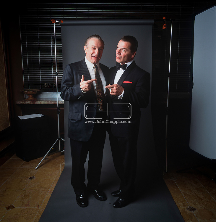 24th February 2011. Las Vegas, Nevada.  Celebrity Impersonators from around the globe were in Las Vegas for the 20th Annual Reel Awards Show. Pictured is Robert De Niro double, Joseph Manuella.With Nick D'Egidio, a well-established Frank Sinatra impersonator from Los Angeles. Photo © John Chapple / www.johnchapple.com..