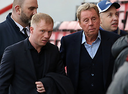 Harry Redknapp and Paul Scholes arrive for the Premier League match at The Vitality Stadium, Bournemouth.