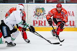 Nate Di Casmirro of Jesenice during ice hockey match between HDD SIJ Acroni Jesenice and HDD Olimpija Ljubljana in Final of Slovenian League 2016/17, on April 9, 2017 in Podmezaklja, Jesenice, Slovenia. Photo by Matic Klansek Velej/ Sportida