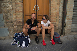 Swannies wait for their riders near the finish of Stage 5 of the Giro Rosa - a 12.7 km individual time trial, starting and finishing in Sant'Elpido A Mare on July 4, 2017, in Fermo, Italy. (Photo by Balint Hamvas/Velofocus.com)