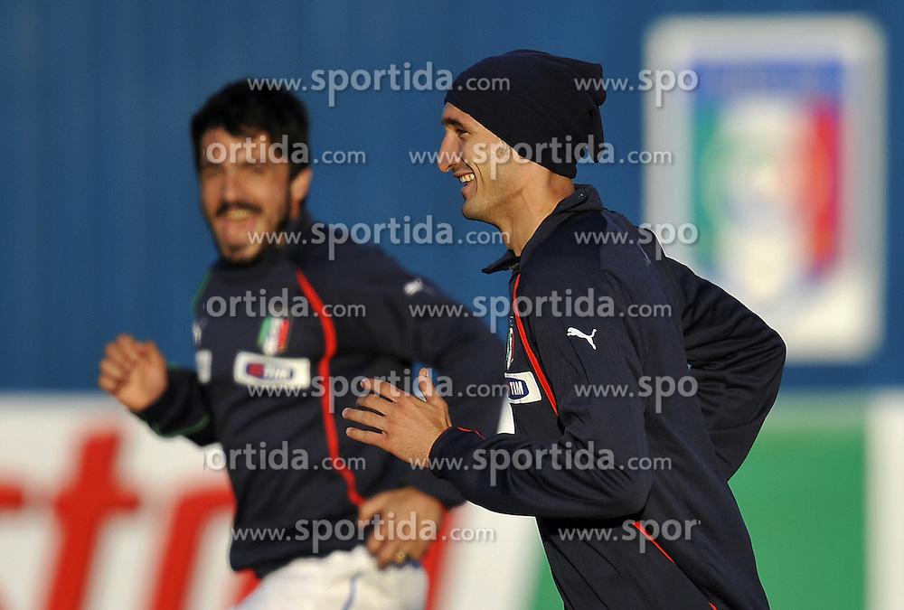 09.06.2010, .Centurion, Johannesburg, RSA, FIFA WM 2010, Italien Training im Bild Giorgio Chiellini e Gennaro Gattuso., EXPA Pictures © 2010, PhotoCredit: EXPA/ InsideFoto/ G. Perottino / SPORTIDA PHOTO AGENCY