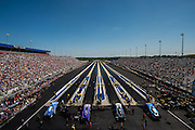 April 22-24, 2016: NHRA 4 Wide Nationals: John Force, Funny Car, Chevy (left) lines up for Funny Car eliminations.