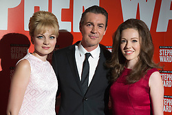 "© Licensed to London News Pictures. 30/09/2013. London, England. L-R: Charlotte Blackledge as Mandy Rice Davies, Alexander Hanson as Stephen Ward and Charlotte Spencer as Christine Keeler. Photocall with the main cast and creatives behind the new Andrew Lloyd Webber Musical ""Stephen Ward"". The musical is due to premiere in the West End in December 2013. Photo credit: Bettina Strenske/LNP"