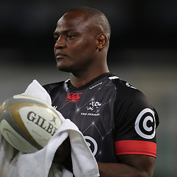 DURBAN, SOUTH AFRICA - AUGUST 04: Chiliboy Ralepelle of the Cell C Sharks during the Currie Cup match between Cell C Sharks and Tafel Lager Griquas at Growthpoint Kings Park on August 04, 2017 in Durban, South Africa. (Photo by Steve Haag/Gallo Images)