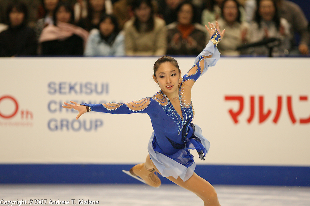 TOKYO - MARCH 23: Miki Ando of Japan performs during the Ladies Short program during the World Figure Skating Championships at the Tokyo Gymnasium on March 23, 2007. (Photo By Andrew T. Malana)