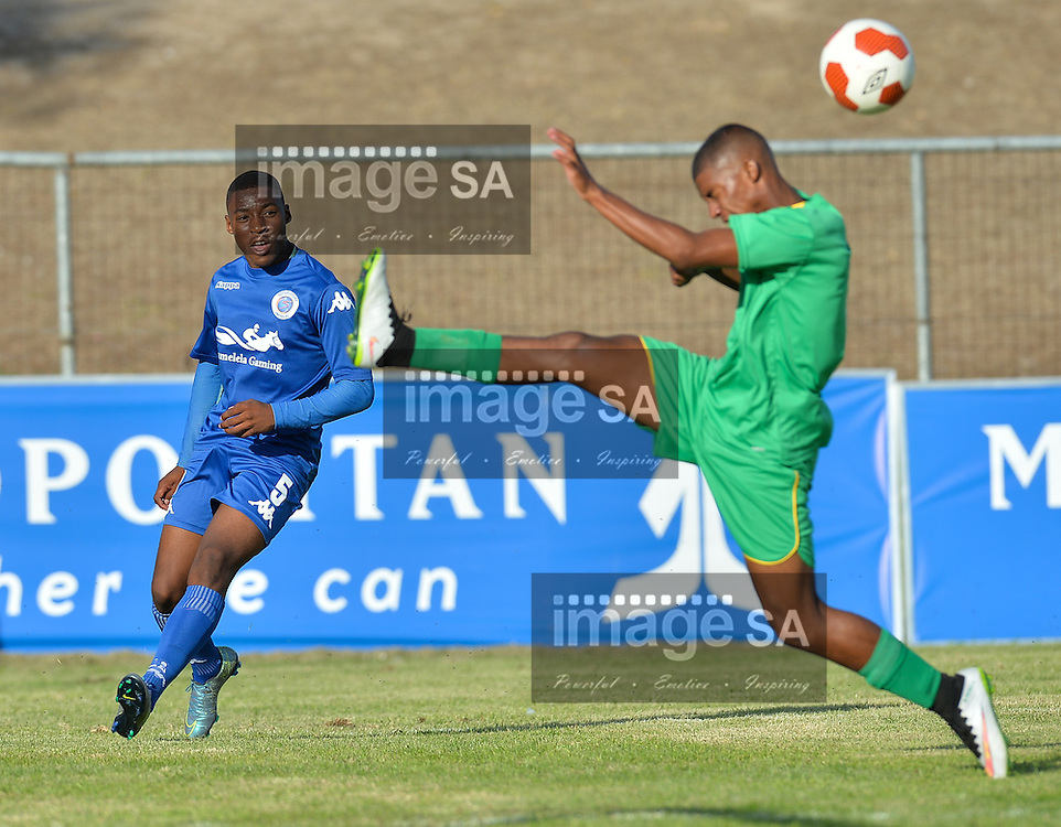 CAPE TOWN, SOUTH AFRICA - Thursday 24 March 2016,  Simon Nqoi of Supersport United during the match between Supersport United and Greenwood Athletic during the second day of the Metropolitan U19 Premier Cup at Erica Park in Belhar. <br /> Photo by Roger Sedres/ImageSA