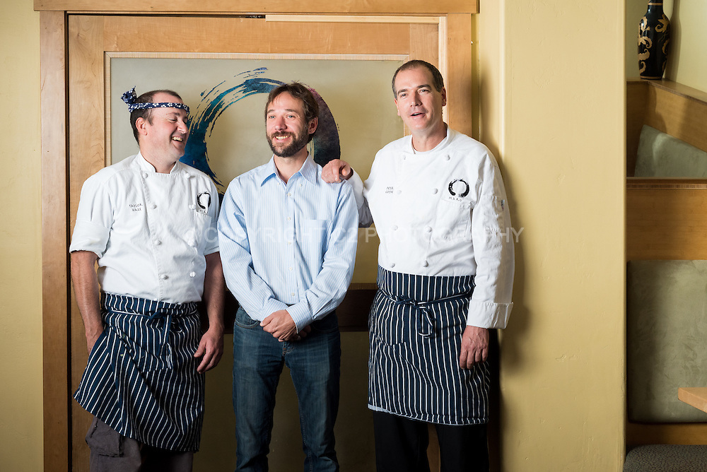 Left to right: Taylor Hale,  Jonathan Sundeen, Peter Coyne