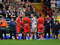 Photo: Tony Oudot/Richard Lane Photography.  Crystal Palace v Watford. Coca-Cola Championship. 09/08/2008. <br /> Three players are given the yellow card after a brawl between both teams  including Lee Williamson of Watford