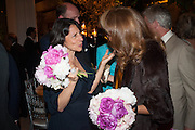 GIANNI ALEN-BUCKLEY; JOANNA SCHLIEMANN, The Cartier Chelsea Flower show dinner. Hurlingham club, London. 20 May 2013.