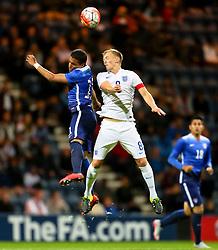 James Ward-Prowse of England U21 climbs for a  header - Mandatory byline: Matt McNulty/JMP - 07966386802 - 03/09/2015 - FOOTBALL - Deepdale Stadium -Preston,England - England U21 v USA U23 - U21 International