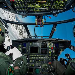 24. April 2014 PDG 2014<br /> Patrouille des Glacier 2014 Arolla<br /> Aufbau PDG, Luftwaffe, Force Areienne