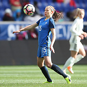 HARRISON, NEW JERSEY- MARCH 4:   Elise Bussaglia #15 of France in action during the France Vs Germany SheBelieves Cup International match at Red Bull Arena on March 4, 2017 in Harrison, New Jersey. (Photo by Tim Clayton/Corbis via Getty Images)