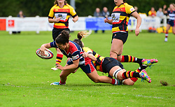 Rhi Parker of Bristol Ladies scores her sides first try - Mandatory by-line: Craig Thomas/JMP - 17/09/2017 - Rugby - Cleve Rugby Ground  - Bristol, England - Bristol Ladies  v Richmond Ladies - Women's Premier 15s