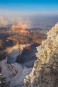 Winter at the Grand Canyon. From the South Rim near Hopi Point.