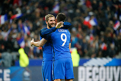 29.03.2016, Stade de France, St. Denis, FRA, Testspiel, Frankreich vs Russland, im Bild gignac andre pierre, giroud olivier // during the International Friendly Football Match between France and Russia at the Stade de France in St. Denis, France on 2016/03/29. EXPA Pictures © 2016, PhotoCredit: EXPA/ Pressesports/ Sebastian Boue<br /> <br /> *****ATTENTION - for AUT, SLO, CRO, SRB, BIH, MAZ, POL only*****