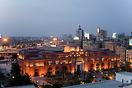 Egypt. Cairo - the city and  The Nile river , view from the Hilton hotel terrace Cairfo  Cairo