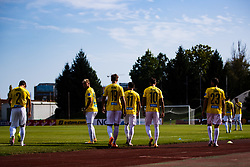 Players of NK Bravo walking on pitch during football match between NK Bravo and NK Koper in 4th Round of Prva liga Telekom Slovenije 2020/21, on September 19, 2020 in Sport park ZAK, Ljubljana, Slovenia. Photo by Grega Valancic / Sportida