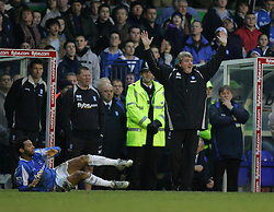 BIRMINGHAM, ENGLAND - MONDAY, JANUARY 2nd, 2006: Birmingham City's manager Steve Bruce appeals to the referee after Jermaine Pennant is fouled during the Premiership match at St Andrews. (Pic by Chris Brunskill/Propaganda)