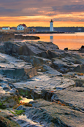 Portsmouth Harbor Light House as seen from New Castle Common in New Castle, New Hampshire.
